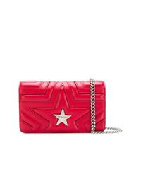 Bolso bandolera de cuero acolchado rojo de Stella McCartney