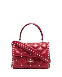 Bolso bandolera de cuero acolchado rojo de Valentino