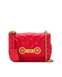 Bolso bandolera de cuero acolchado rojo de Versace