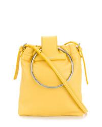 Bolso bandolera de cuero amarillo de Theory