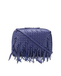 Bolso bandolera de cuero azul de Bottega Veneta