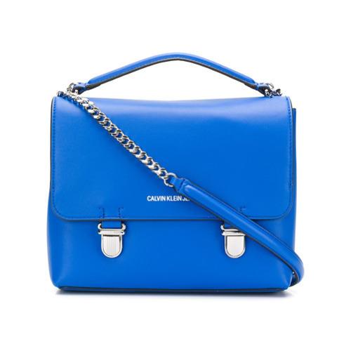 Bolso Calvin Jeans Klein Azul Cuero Bandolera De LGSqzMjUVp