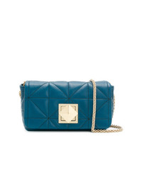 Bolso bandolera de cuero azul de Sonia Rykiel