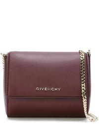Bolso bandolera de cuero burdeos de Givenchy