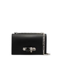Bolso bandolera de cuero con adornos negro de Alexander McQueen