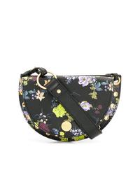 Bolso bandolera de cuero con print de flores negro de See by Chloe