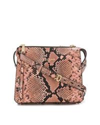 9e02a19331b Comprar un bolso bandolera de cuero con print de serpiente rosado ...