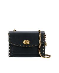 48b601b61 Comprar un bolso bandolera de cuero con tachuelas negro: elegir ...