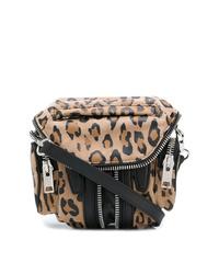 Bolso bandolera de cuero de leopardo marrón claro de Alexander Wang