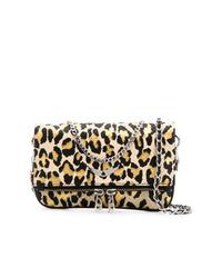 Bolso bandolera de cuero de leopardo marrón claro de Zadig & Voltaire