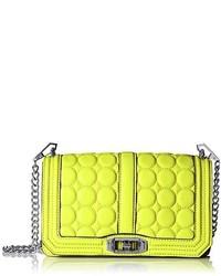 Bolso bandolera de cuero en amarillo verdoso de Rebecca Minkoff