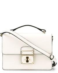 Bolso bandolera de cuero en beige de Dolce & Gabbana