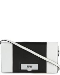 Bolso bandolera de cuero en blanco y negro de MICHAEL Michael Kors