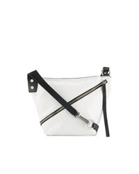 Bolso bandolera de cuero en blanco y negro de Proenza Schouler