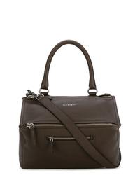 Bolso bandolera de cuero en gris oscuro de Givenchy