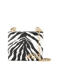 Bolso bandolera de cuero en negro y blanco de Dolce & Gabbana