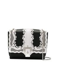 Bolso bandolera de cuero en negro y blanco de Paula Cademartori