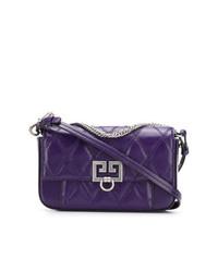 Bolso bandolera de cuero en violeta de Givenchy