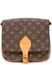 Bolso Bandolera de Cuero Estampado Marrón Oscuro de Louis Vuitton