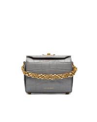 Bolso bandolera de cuero gris de Alexander McQueen