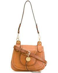 Bolso bandolera de cuero marrón claro de See by Chloe