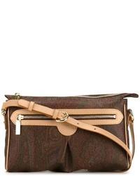 Bolso bandolera de cuero marrón de Etro