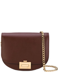 Bolso bandolera de cuero marrón de Victoria Beckham