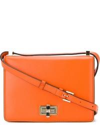 Bolso bandolera de cuero naranja de Diane von Furstenberg