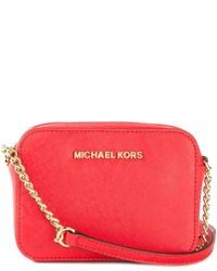 Bolso bandolera de cuero naranja de MICHAEL Michael Kors