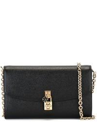 Bolso Bandolera de Cuero Negro de Dolce & Gabbana
