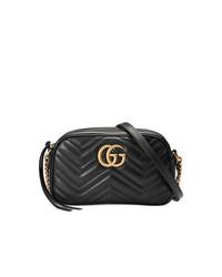 Bolso bandolera de cuero negro de Gucci