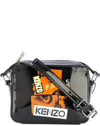 Bolso bandolera de cuero negro de Kenzo