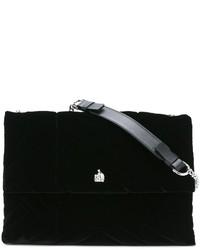 Bolso bandolera de cuero negro de Lanvin