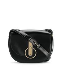 Bolso bandolera de cuero negro de Nina Ricci