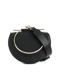 Bolso bandolera de cuero negro de Salvatore Ferragamo