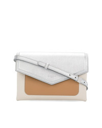 Bolso bandolera de cuero plateado de Givenchy