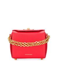 Bolso bandolera de cuero rojo de Alexander McQueen
