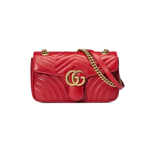bc9a596d8 Bolso bandolera de cuero rojo de Gucci, MEX$55,997 | farfetch.com ...