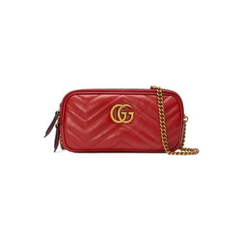b2344b778 Bolso bandolera de cuero rojo de Gucci, MEX$23,110 | farfetch.com ...