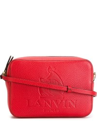 Bolso Bandolera de Cuero Rojo de Lanvin