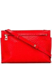 Bolso Bandolera de Cuero Rojo de Loewe