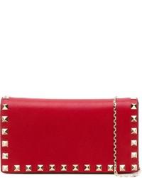 Bolso bandolera de cuero rojo de Valentino Garavani