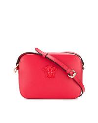 Bolso bandolera de cuero rojo de Versace