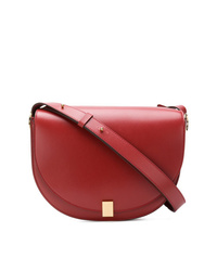 Bolso bandolera de cuero rojo de Victoria Beckham