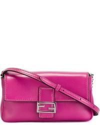 Bolso bandolera de cuero rosa de Fendi