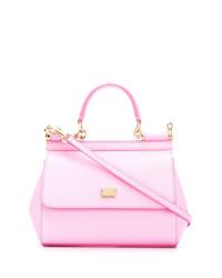 Bolso bandolera de cuero rosado de Dolce & Gabbana