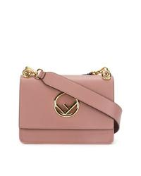 Bolso bandolera de cuero rosado de Fendi