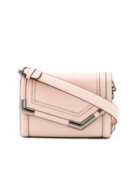 Bolso bandolera de cuero rosado de Karl Lagerfeld
