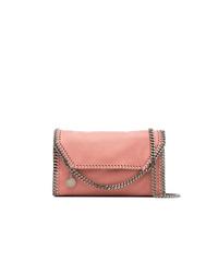 Bolso bandolera de cuero rosado de Stella McCartney