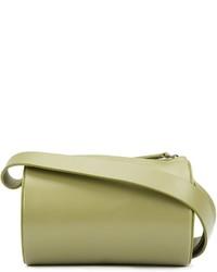 Bolso bandolera de cuero verde oliva de Building Block